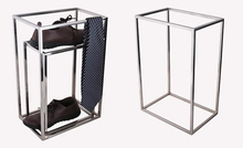 2pcs Stainless steel shoe display stand fashion store window rack midisland stool bag holder