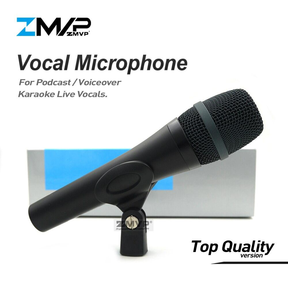 Top Quality 945 Vocais Ao Vivo 945 Com Fio Microfone de Karaokê Profissional Dinâmico super-cardióide Microfone Microfono Mic Do Podcast