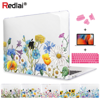 Redlai Plastic Hard Case Cover For Apple MacBook Air Pro Retina 12 13 15 inch Air 13 A1466 A1932 Case 2018 Pro 13 15 Touch bar