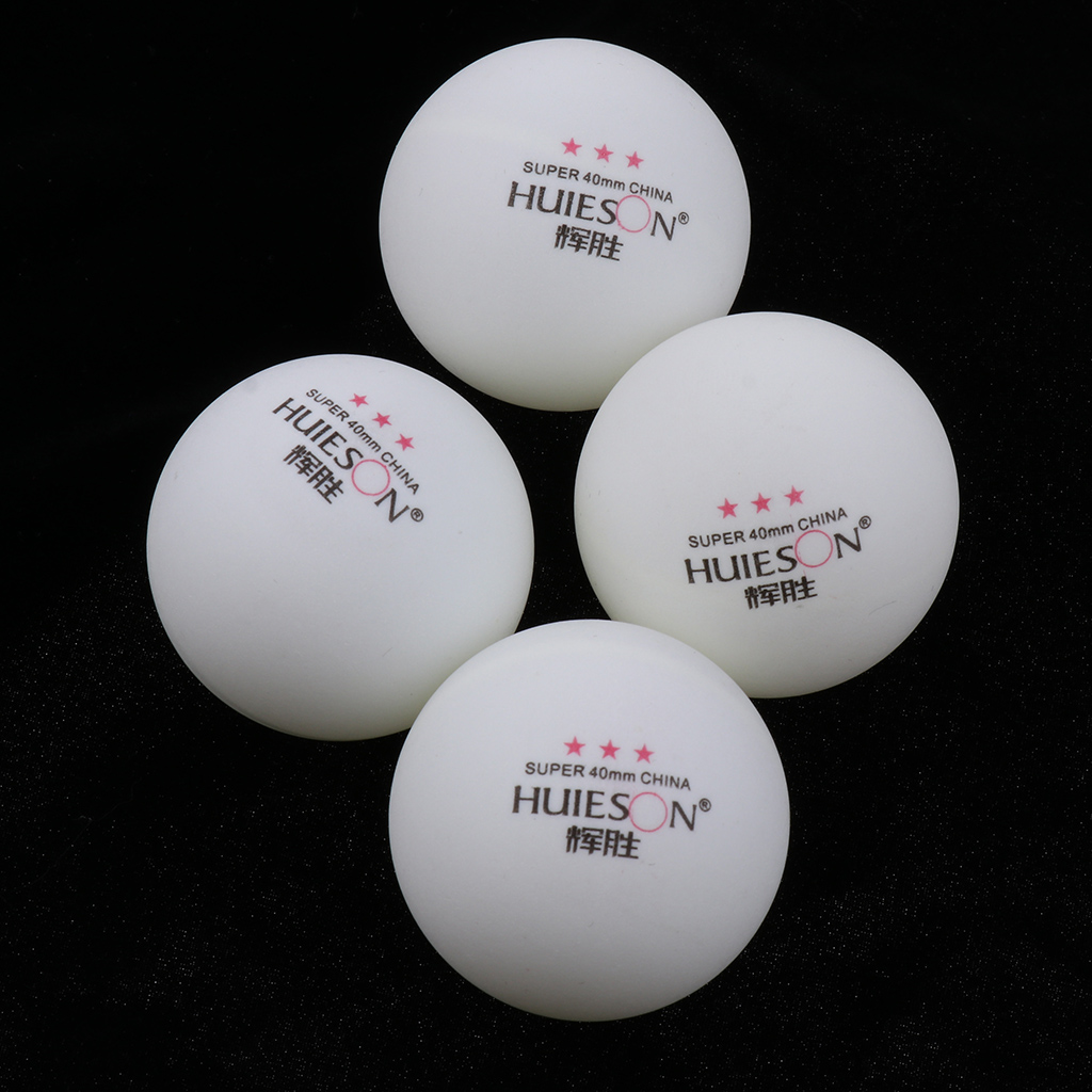 100 Pieces Celluloid 3 Star 40mm Table Tennis Balls Ping Pong Practice Balls White For BeginnersPlayersTournament Use