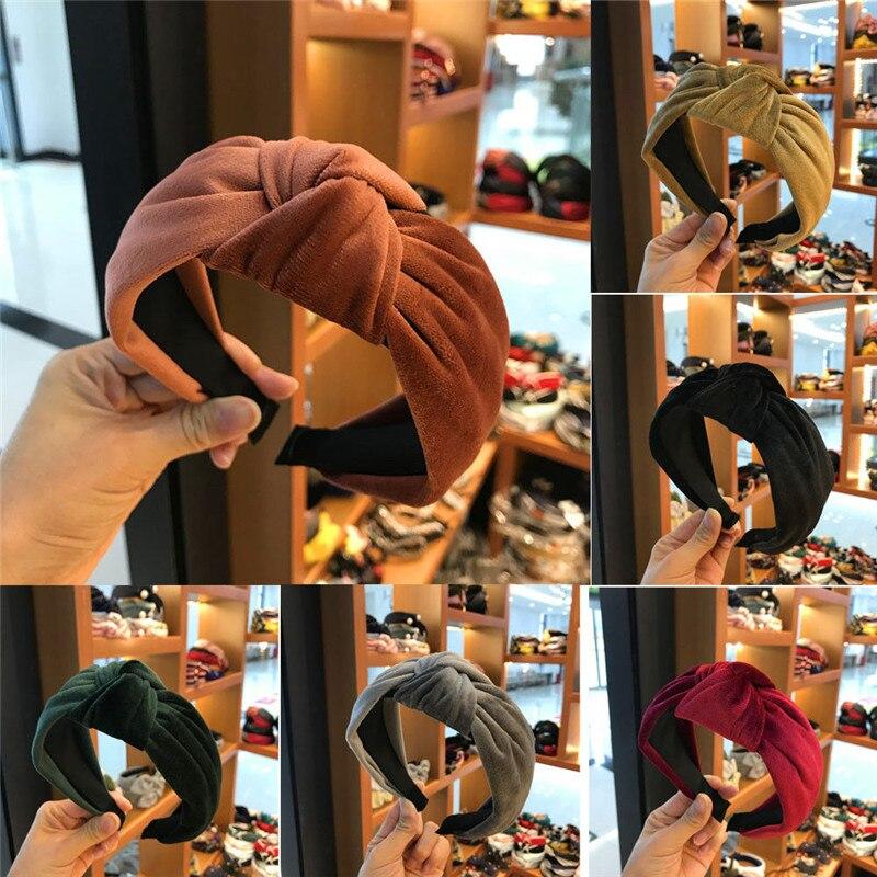 Lady Fabric Alice Band Hair Band Headband Twist Hairband Bow Knot Cross Headwrap Vintage   Headwear