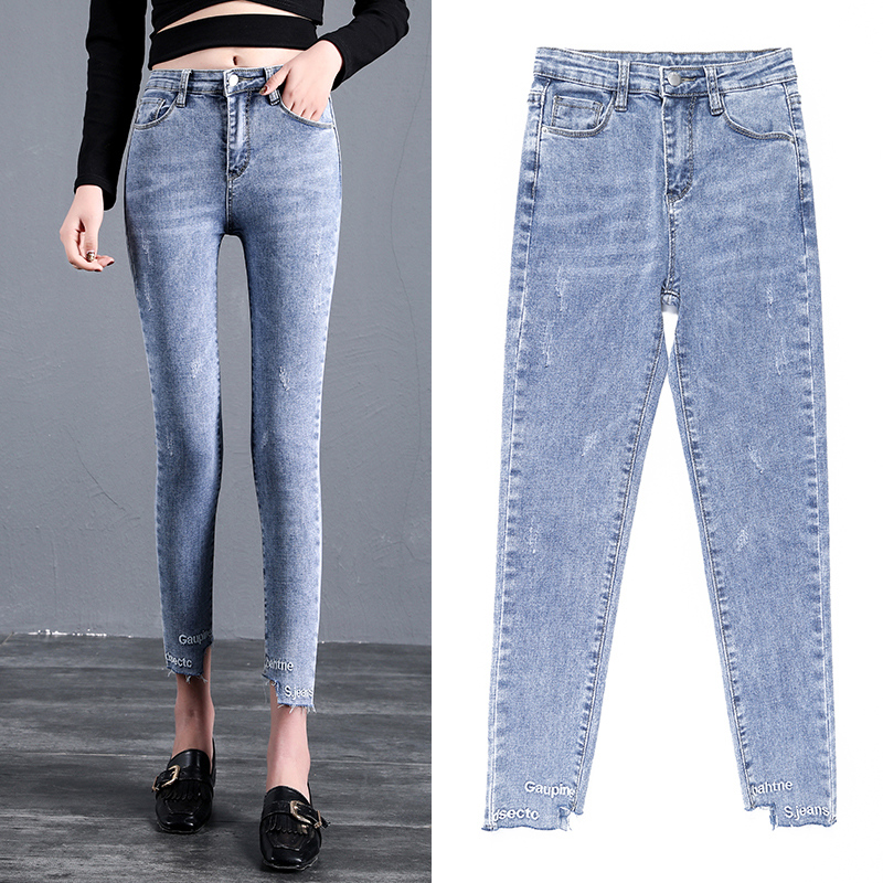 2019 New Fashion women   jeans   Plus Size women pants High Waist Ankle-Length Women Casual Stretch Skinny Pencil women pants