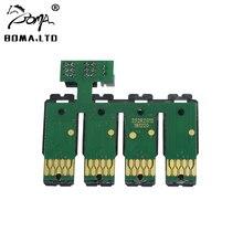 Sale !!! 1 Set Show Ink Level Auto Reset Cartridge Chip For Epson WF-F7110/WF-7610/WF-7620/WF-3620/WF-3640 Printer Ciss