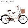 Venividivici 22/24 дюймов резиновые шины женские велосипеды родитель-ребенок велосипед двойной человек велосипед гальванизированная детская педа...