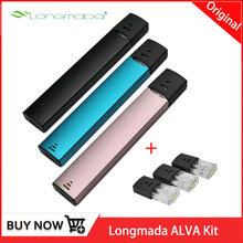 Mini Vape Pen Starter Kit Original Longmada ALVA Kit 350mAh with 1ML Pod Ceramic wickless cell Cotton Coil Kit vs INFINIX kit(China)