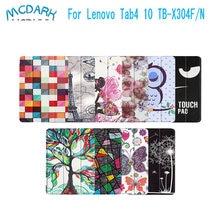 Mcdark-Funda de cuero antigolpes para tableta Lenovo TAB 4, 10 TB, X304F, TB-X304N, TB-X304L, 10,1 pulgadas