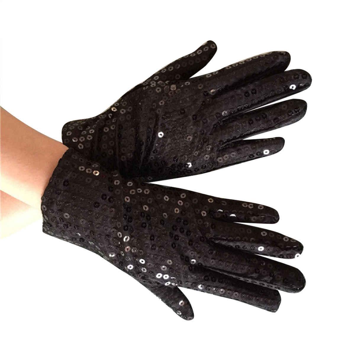 大人動マイケル · ジャクソン Cos Paillette の手袋 MJ スパンコールステージパフォーマンス手袋ダンス輝く男性女性