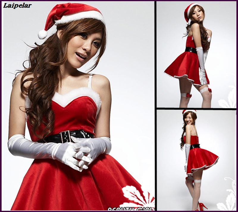New Year Winter Santa Claus Christmas Costumes For Women Christmas Party Dress Stage Uniforms Temptation Cosplay Laipelar in Holidays Costumes from Novelty Special Use