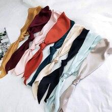 Long Ribbon Silk Scarf Neckerchief Hair Band Bag Handle Wraps Small Neck Scarves Tape Ladies Fashion DIY Hats