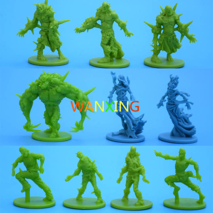 1/72 Plastic Model Role-playing Games Endless Slaughter Black Death Zombicide Tribe Green Horde Corpse Zombie Toys For Children