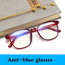 2019 Anti-blue Glasses Frame Eyeglasses Fashion Round Prescription Glasses Men Optical Glasses Women Eye Glasses Eyewear Oculos cheap ZYHAO Unisex Plastic Solid 5086 FRAMES Eyewear Accessories 52mm 40mm vintage retro myopia optical computer glasses Round Face Long Face Square Face Oval Face