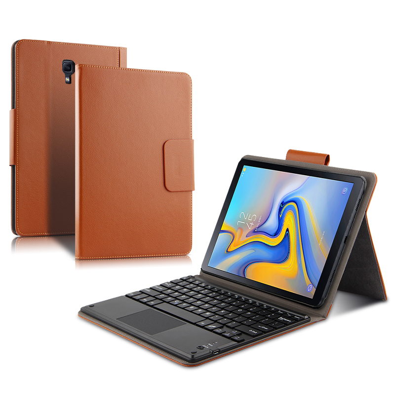 <font><b>Case</b></font> For Samsung Galaxy Tab A 10.5 <font><b>SM</b></font> <font><b>T590</b></font> T595 Protectiv Cover Bluetooth keyboard Protector PU Leather Tab A2 10.5