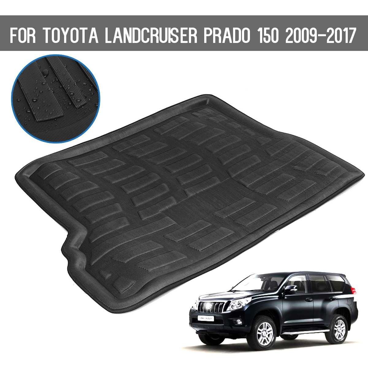 Clever For Toyota Landcruiser Prado150 Car Rear Boot Liner Trunk Cargo Mat Tray Floor Carpet Mud Pad Protector Factories And Mines Interior Accessories