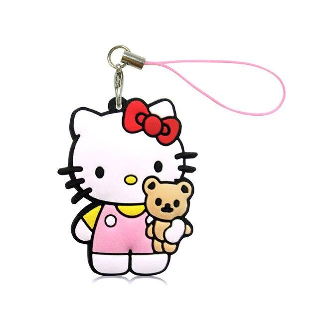 1pcs Hello Kitty Cartoon Figure Pvc Bag Cell Phone Hanging Ornaments