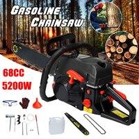 Professional Wood cutter 5200W 68CC Mini Gasoline Chainsaw Machine Cutting Wood 2 stroke Gas Chain Saw 20 Blade