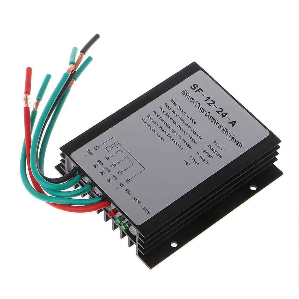 Adeeing 300/600W DC12/24V Waterproof Wind Turbine Generator Charge Controller Wind Controller