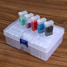 Алмазная вышивка для хранения ногтей кончик корпуса прозрачный пластиковый ящик для хранения 24 42 64 балки бисер контейнер вышивка ремесло
