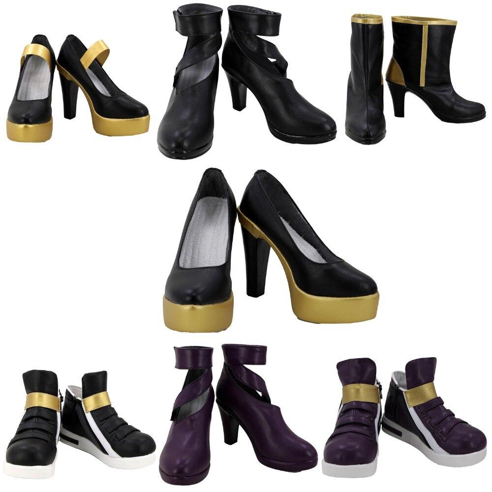 Game LOL KDA Kaisa Akali Evelynn Ahri Cosplay Boots Shoes Custom Made Any Size