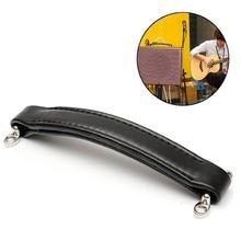 Manija de cuero del amplificador de la guitarra del estilo Vintage negro para el guardabarros Ampeg AMPS
