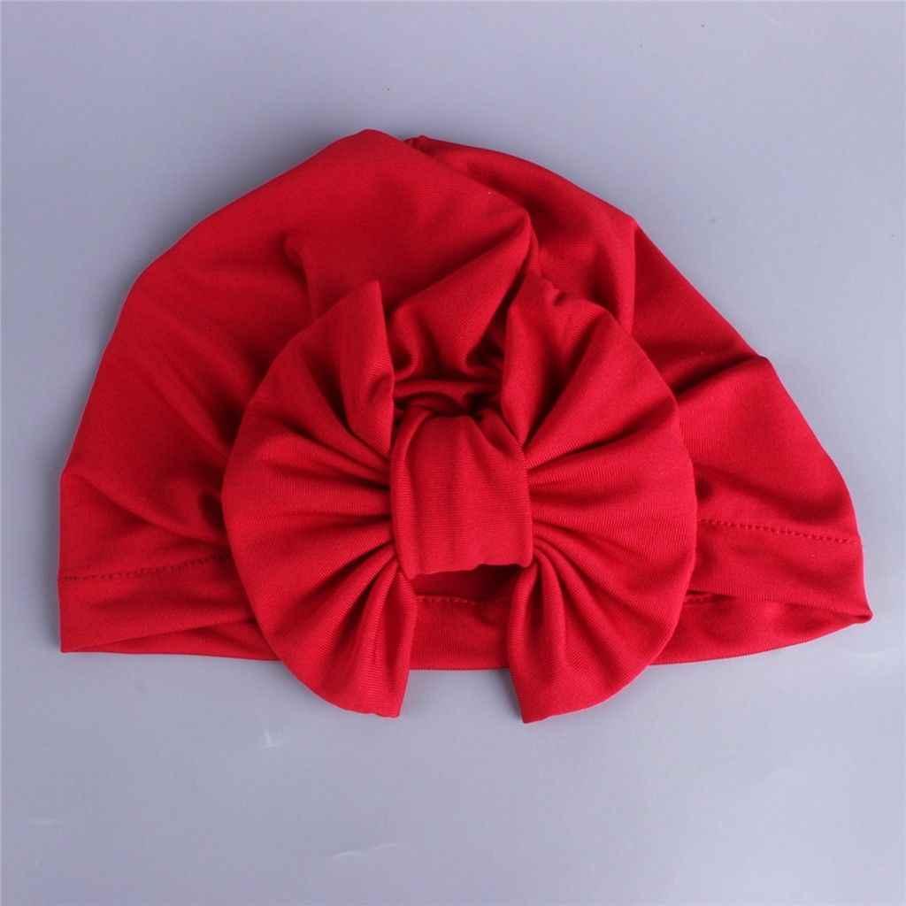 חדש כניסות גדול קשת Bowknot קטיפה ילד תינוקת ילד טורבן Fasion ראש גלישת מתכוונן כובע חלב סיבי כובע רך חמוד כובעים