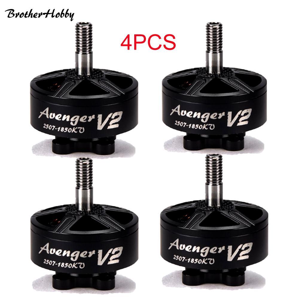 1pcs/4pcs Brotherhobby 2507 V2 1750/2450KV 4-6S Brushless Motor For RC Multicopter Part Accessories