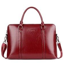 Новые модные женские туфли ноутбука Бизнес Портфели PU кожаная сумка для мужчин 14 15,6 дюйм(ов) для женщин's тетрадь компьютер портативный офисная сумка