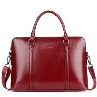 New Fashion Women Laptop Business Briefcase PU Leather Men Handbag 13 14 15 Inch Women's Notebook Computer Portable Office Bag