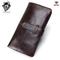9617af28e94 Men S RFID Long Wallet Genuine Leather Clutch Man Walet Brand Luxury Male  Purse Long Wallets