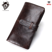 Mens RFID Long Wallet Genuine Leather Clutch Man Walet Brand Luxury Male Purse Long Wallets Coin Purse Phone Pocket For Iphonex