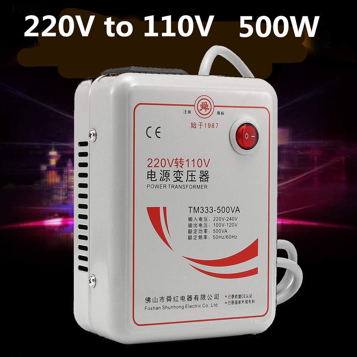 Onduleur Chargeur AC 220 v à 110 v Transformateur de Tension Step Down Converter Convertisseur de Tension 500 Watts Adaptateur Cuivre Pur bobine
