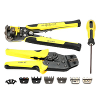 HLZS PARON Wire Crimpers Ratcheting Terminal Crimping Pliers Stripper Tool