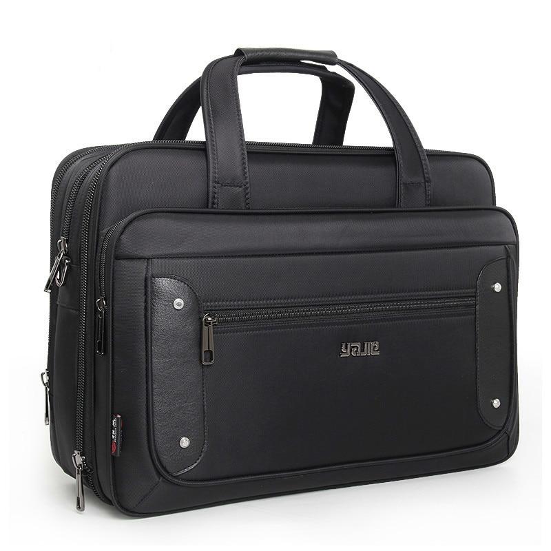 2019 Top-level Super Capacity Plus Business Men's Briefcase Women Handbags Laptop Bags 16 17 19 Inch Oxford Crossbody Travel Bag(China)