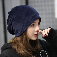 Masculino feminino senhoras veludo inverno quente slouch gorro esqui hip hop chapéu boné primavera oversized preto skullcap gorro quente 2021