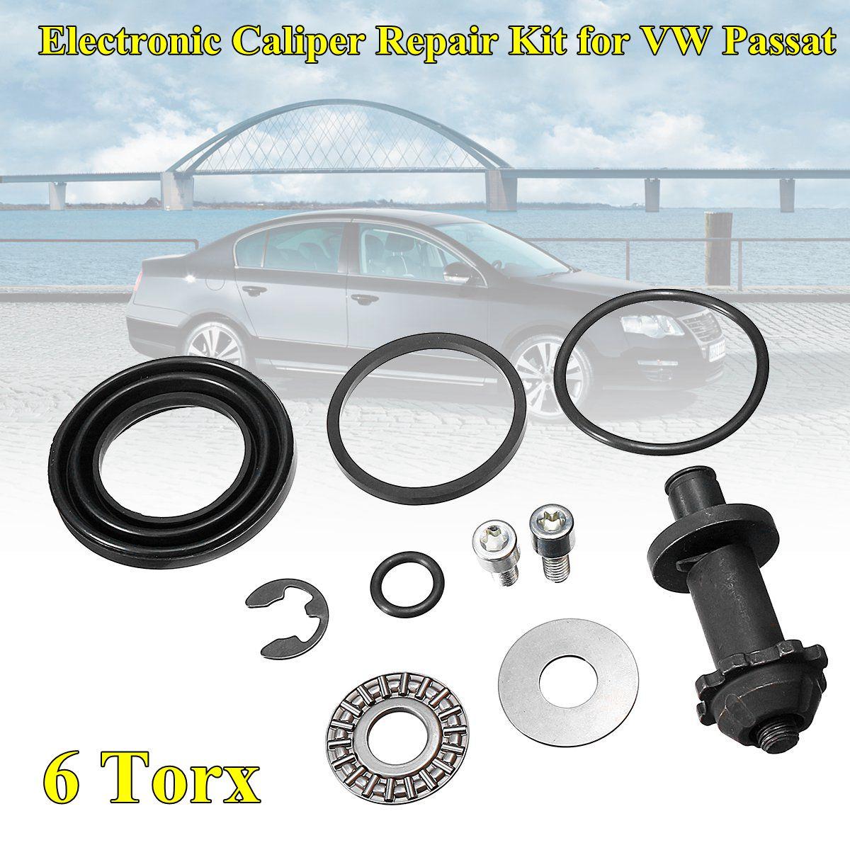 For VW Passat B6 B7 CC Tiguan Q3 A4 S4 A5 S5 A6 32326315 32332267 1Set  6Torx teeth Rear Hand Brake Motor Caliper Repair Kit
