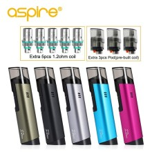 Electronic Cigarette aspire Spryte Kit AIO Replaceable Coil Vape Pod System Device Use BVC Coil 1.8ohm 1.2ohm Support Nic Salts