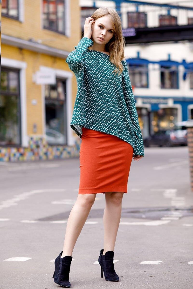 Skirt 2400111-56 high waist printed africa skirt