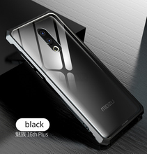 Meizu 16 Plus Bumper Meizu16 Aluminum Metal with Back Clear Glass Case Cover for 16Plus Frame Protector