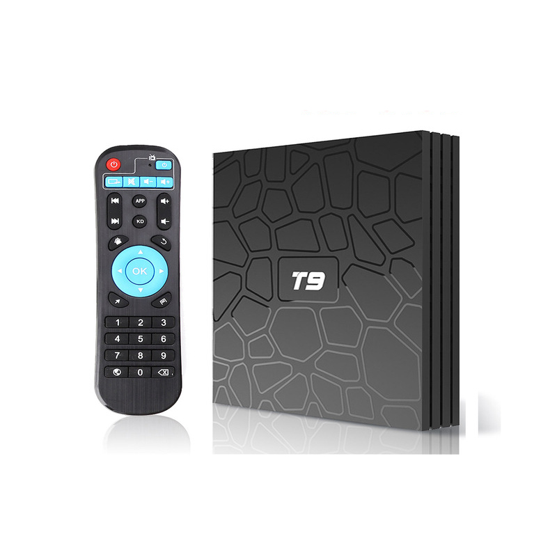 LEORY T9 RK3328 Smart TV Box 4GB 32GB Android 8.1 BT4.0 4K H.265 4K en option 2.4G/5Ghz double WIFI TVbox pk Mi S X96 décodeur image