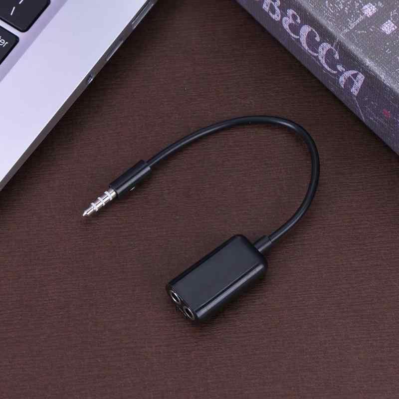 3.5mm gniazdo słuchawkowe kabel do słuchawek mikrofon Y przejściówka rozgałęziająca 1 żeński do 2 męski miłośników przewód słuchawek dla Laptop PC nowy