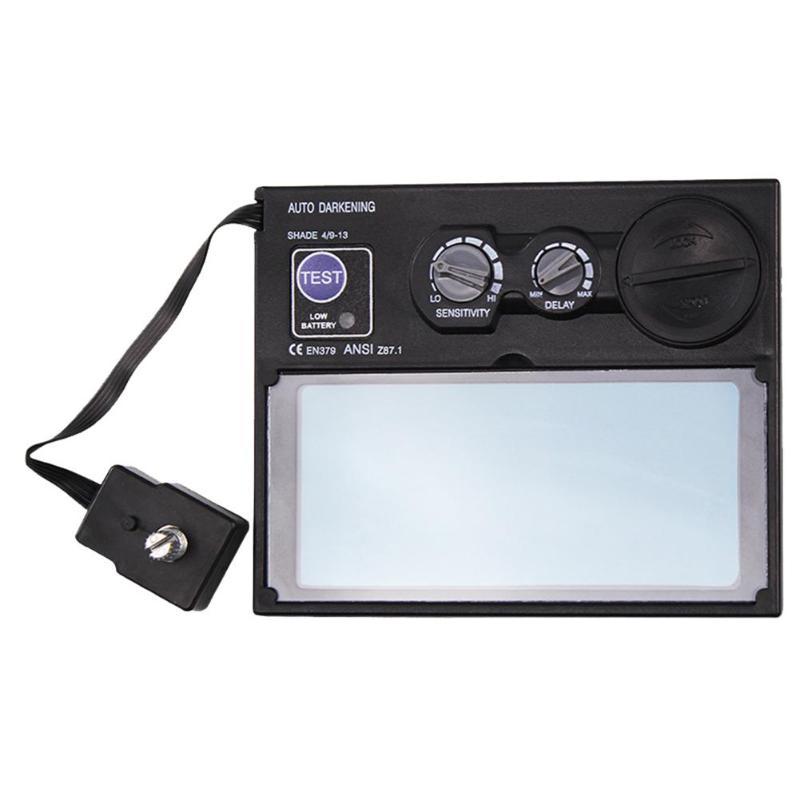 DIN9-DIN13 LCD Screen Solar Automatic Darkening Welding Goggles Lens Filter