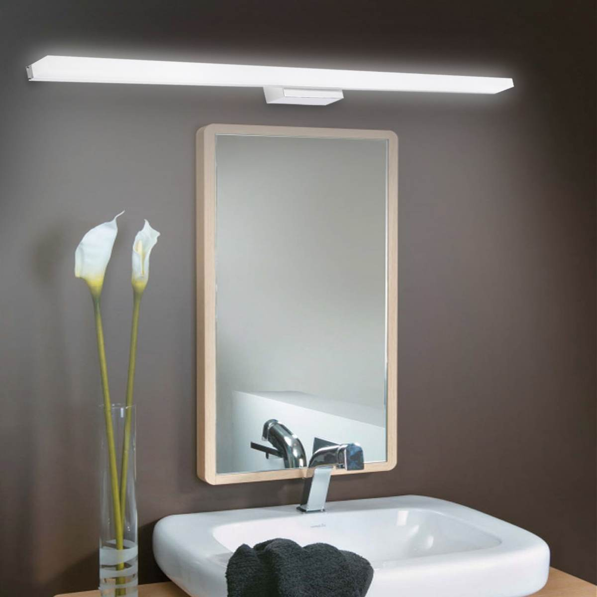 High Quality 100cm 16W 88 LED Mirror Front Lamp Morden Bathroom Toilet Vanity Wall Makeup Light Wall Lamp Stainless Steel 1280LMHigh Quality 100cm 16W 88 LED Mirror Front Lamp Morden Bathroom Toilet Vanity Wall Makeup Light Wall Lamp Stainless Steel 1280LM