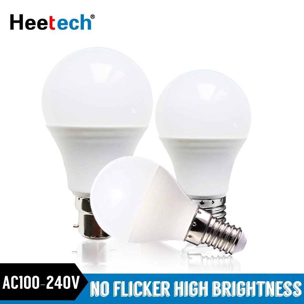 LED E27 LED Lamp E14 B22 Bulb LED Light Blubs Lampada Bombilla 3W 5W 7W 9W 12W 15W 18W 220V 110V Cold/Warm White Spotlight Lamps