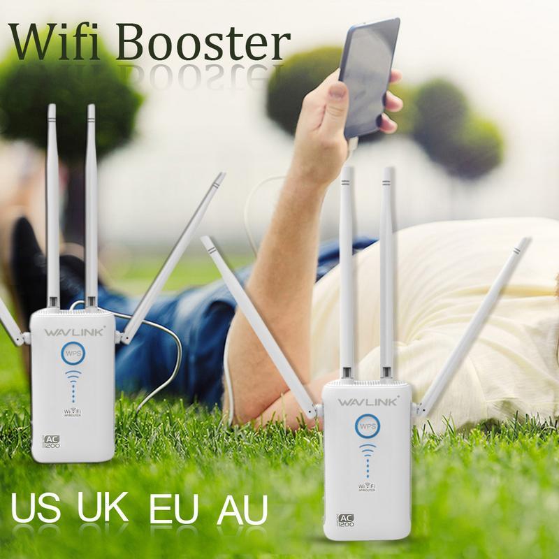 11ac Gigabit AP/routeur WiFi gamme Extender 1200 Mbps Wifi Booster Signal extendeurs 4 antennes externes double bande externe - 2