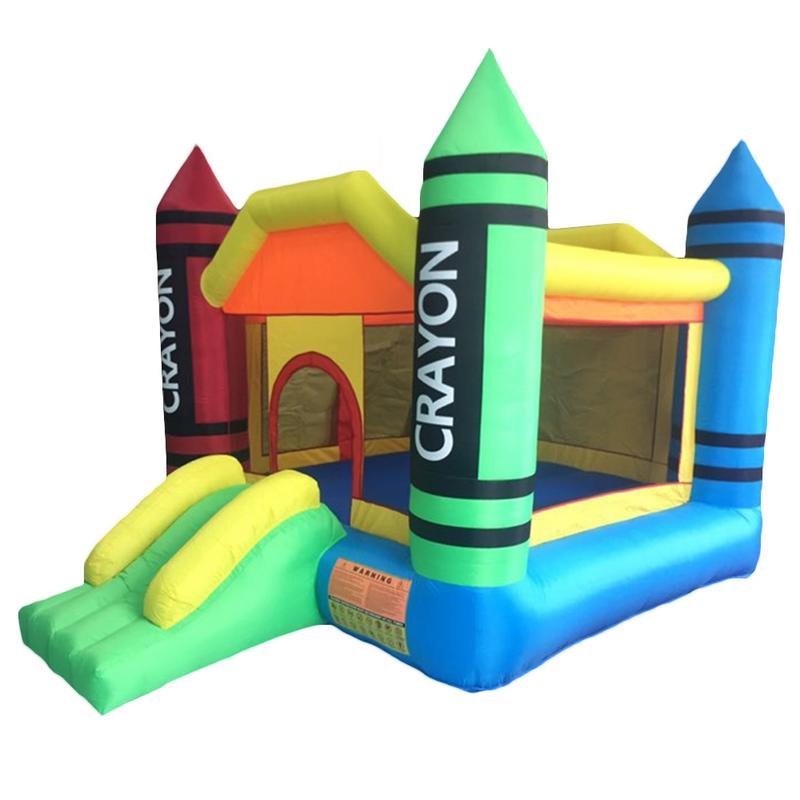 3.7x2.7x2.3m 420D Thick Oxford Cloth Inflatable Bounce House Castle Ball Pit Jumper Kids Play Castle Multicolor