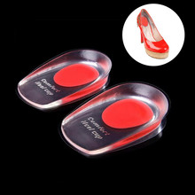 1 Pair Inserts Men Women Silicon Gel heel Cushion insoles soles relieve foot pain protectors Spur Support Shoe pad High Inserts все цены