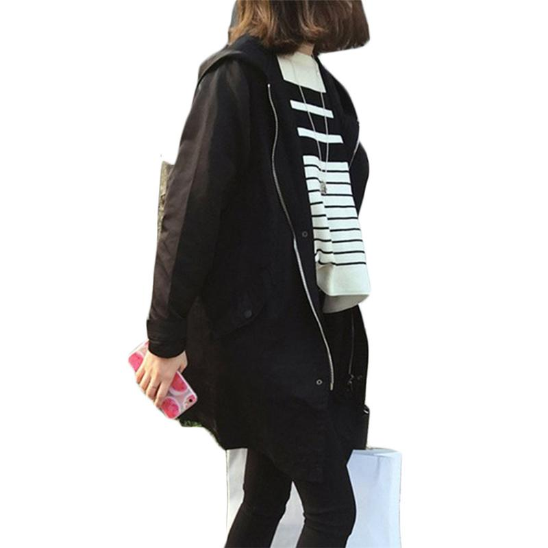 Korean Fashion Casual Jacket Coat Women Spring Autumn Loose Type Jacket Outwear Letter Printed Long Style Female Zipper Tops New