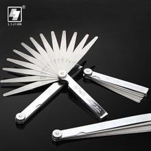 LIJIAN 14/17 Blades 0.02-1mm Filler Feeler Spark Plug Thickness Gauges Gap Metric Gauge Measuring Gauging Tool Caliper Carpenter недорого