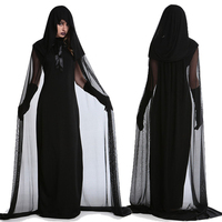 Halloween Witch Costume Women Scary Devil Cosplay Ghost Day of The Dead Carnival Wear Horror Outfits Female Vampire Dress
