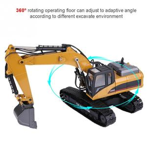 Image 4 - HUINA 1580 2.4G 1:14 23CH 3 in 1 Rc Hydraulic Excavator Electric Model Excavator Engineering Vehicle Remote Control Truck Autos