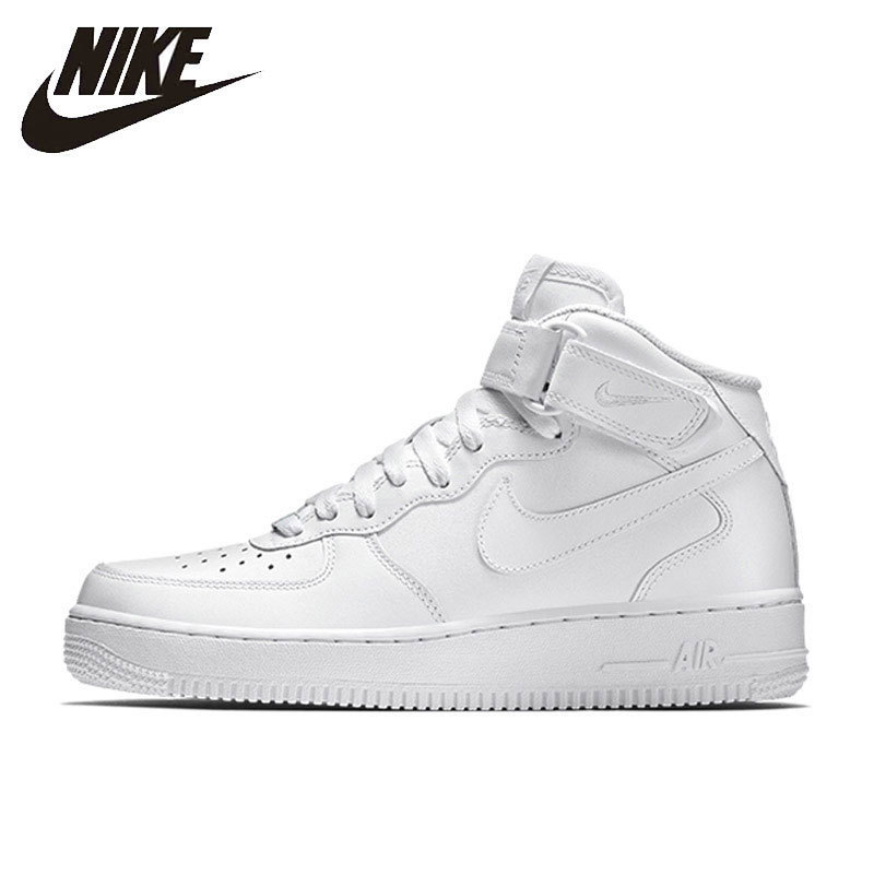 Nike NIKE AIR FORCE 1 MID '07 Original New Arrival Official Breathable Men's Skateboarding Shoes Outdoor Sports Sneakers #315123